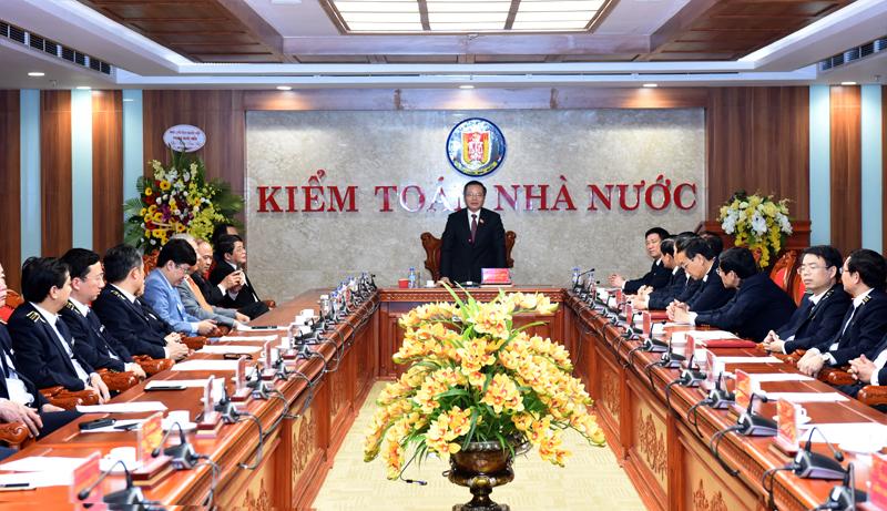 Phó Chủ tịch Quốc hội Phùng Quốc Hiển thăm và làm việc với KTNN