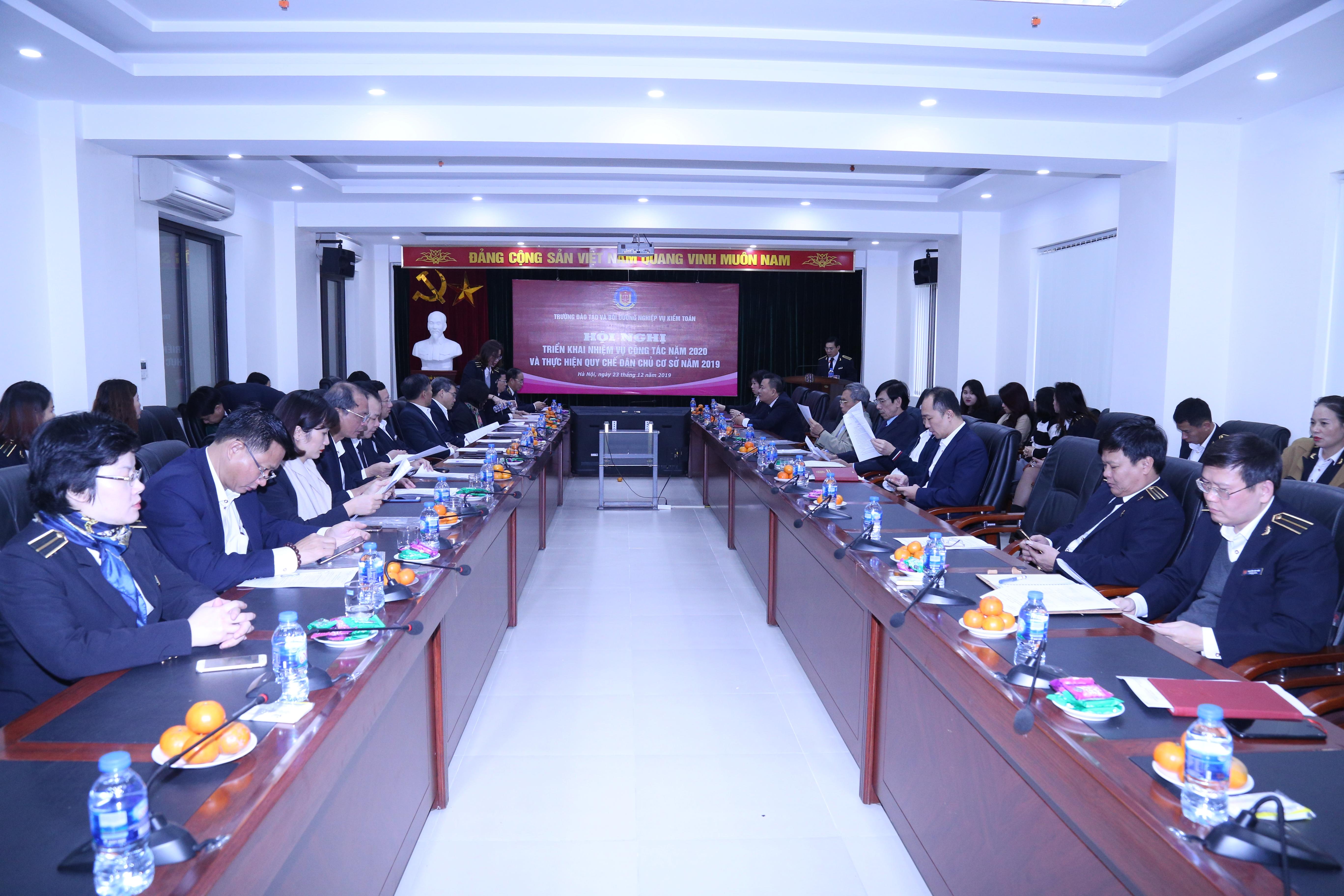 Trường Đào tạo và Bồi dưỡng nghiệp vụ kiểm toán tổ chức triển khai công tác năm 2020 và thực hiện quy chế dân chủ cơ sở năm 2019
