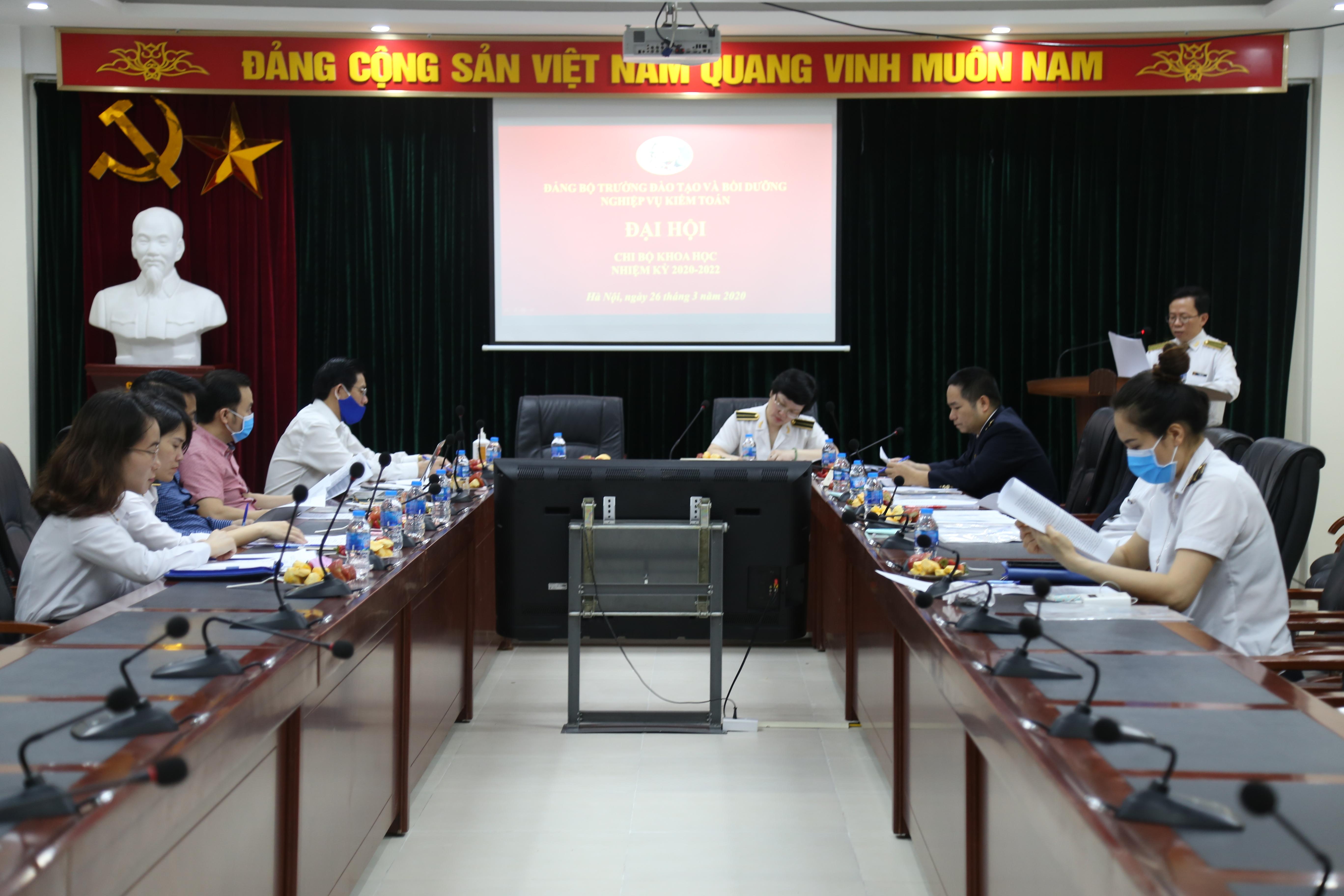 Đại hội chi bộ Khoa học Trường ĐT&BD nghiệp vụ kiểm toán nhiệm kỳ 2020 - 2022