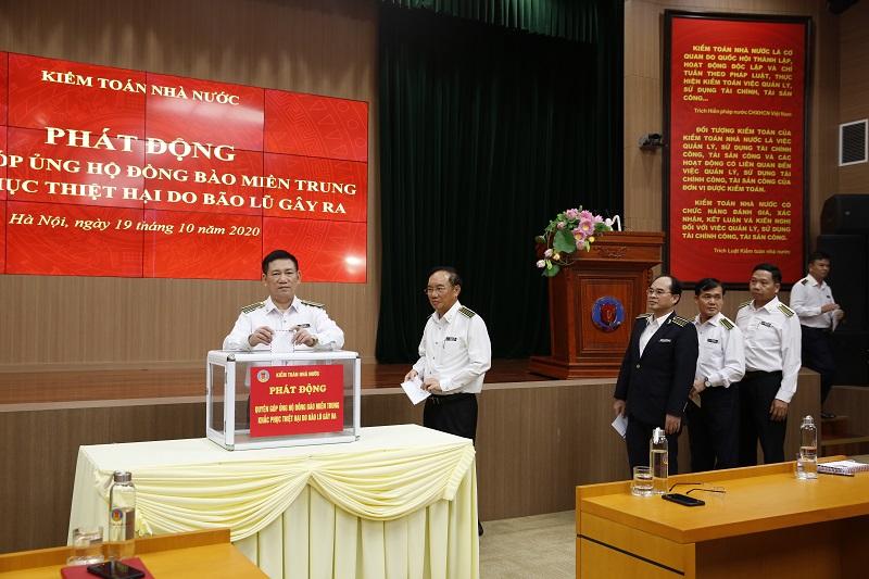 Kiểm toán nhà nước phát động cán bộ, viên chức ủng hộ đồng bào miền Trung bị lũ lụt