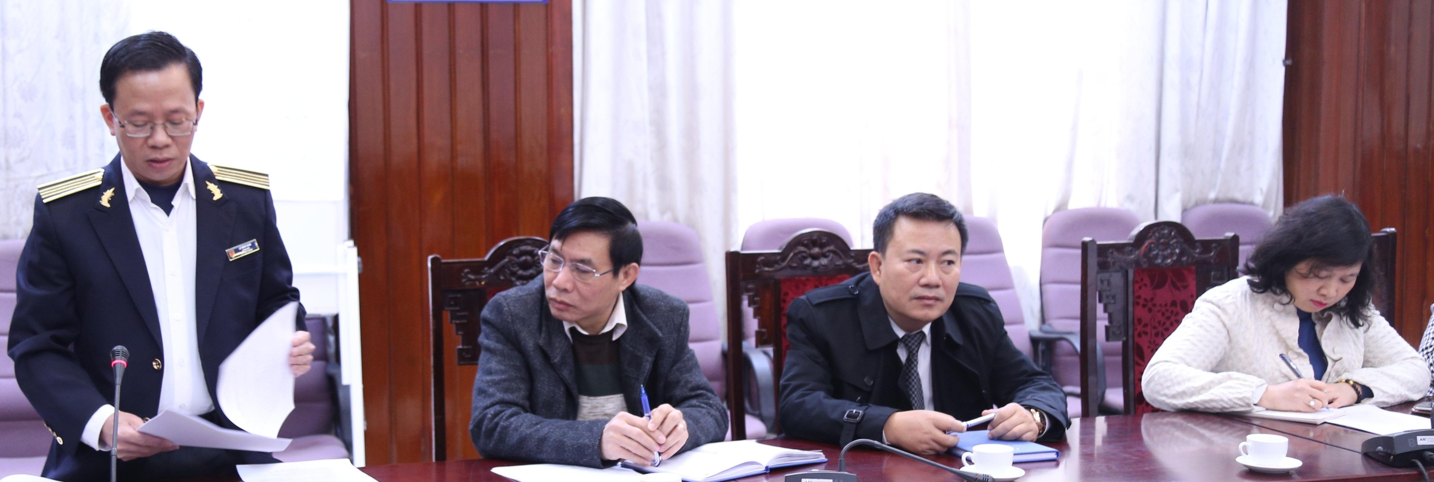 Phó Tổng KTNN Vũ Văn Họa làm việc với Trường ĐT&BD nghiệp vụ kiểm toán