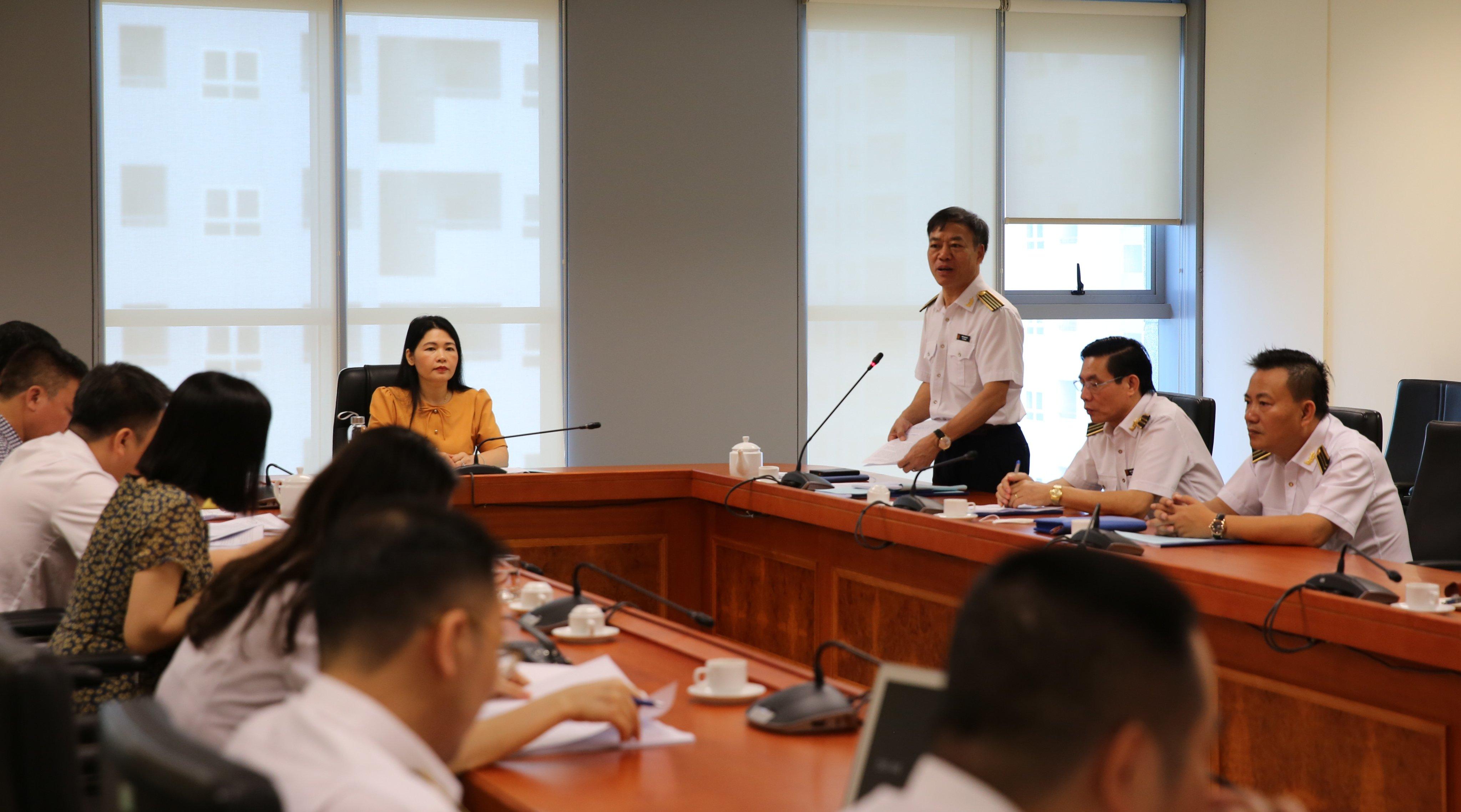 Phó Tổng KTNN Hà Thị  Mỹ Dung làm việc với Trường ĐT&BD nghiệp vụ kiểm toán